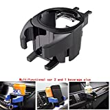 2 in 1 car Drink Holder Mobile Phone Holder Vent Fixed Rack Organizer, can Put in and take Out Mobile Phones and Drinks at The Same time, Used in Cars, Trucks, Vans, MPV. (Black)