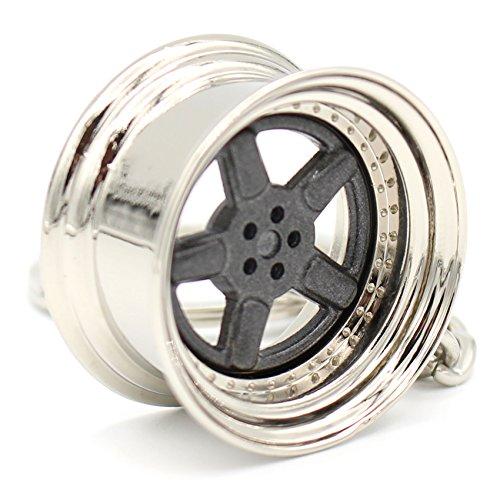 VmG-Store Tiefbettfelge Grau Schlüsselanhänger Felge Metall