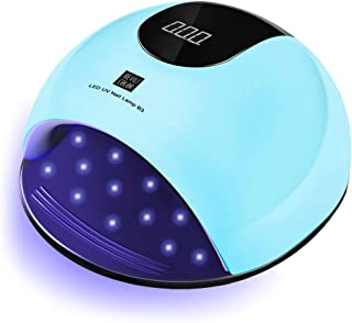 UV Nail Lamp, 80W LED UV Light for Gel Nails, Faster Nail Drier with 36 UV Lamp Beads and Infrared Auto Sensor, Suitable for Gel Nail Polish, Big Space for Fingernail & Toenail Polish Art (Blue)