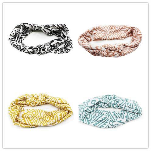 Vintage Design Twist Femmes Cheveux Cravate Femmes Cheveux Accessoires Bandeaux Queue De Cheval Tordu Noué 4pcs