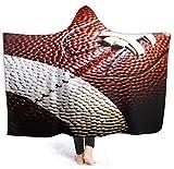 Manta con Capucha con Textura de fútbol Americano 50'x40' Manta de Abrigo de Terciopelo de Lujo Súper Suave y acogedora Manta de Siesta cálida Poncho para Sala de Estar Dormitorio Dormitorio