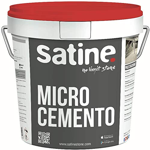 Mikro-Zement, Einkomponenten-Finish, mittelsatiniert, 20 kg