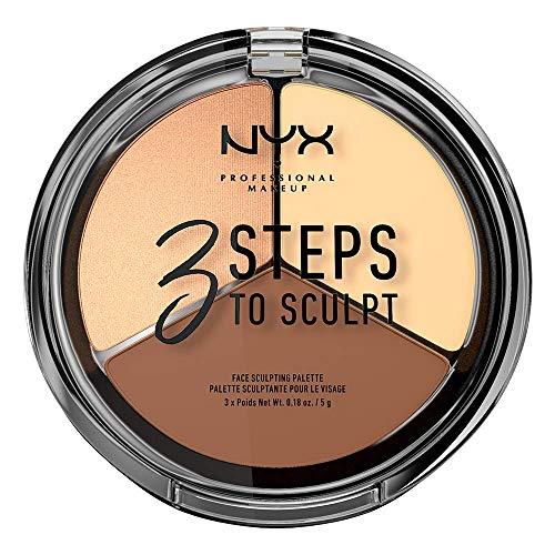 NYX Professional Makeup Palette Sculpting Viso 3 Steps to Sculpt,...