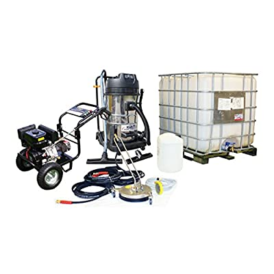 Kiam Business Start-up Pack: KM3700PR 14hp Petrol Pressure Washer Gearbox Model, KV80-3 3 Motor Wet & Dry Vacuum Cleaner, VT62-300S Rotary Cleaner, Turbo Nozzle, 1000L IBC and Accessories from KIAM POWER PRODUCTS