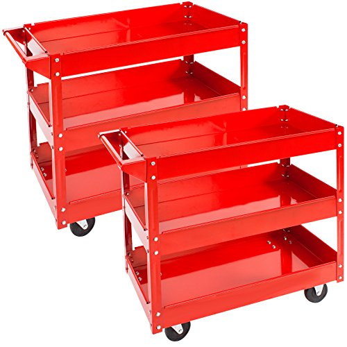 TecTake Carro de taller de herramientas Carro con ruedas de