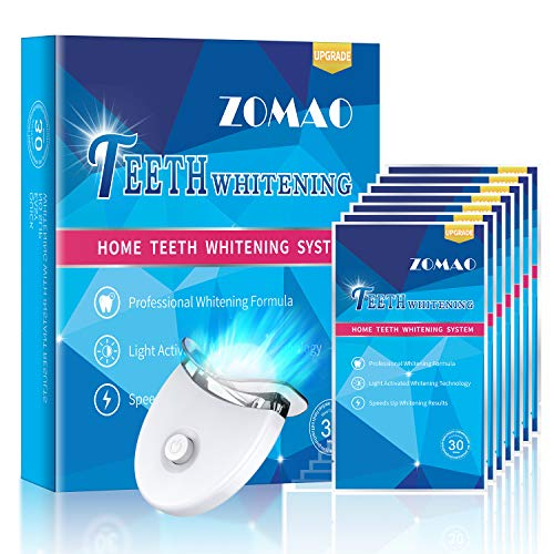 Teeth Whitening Strips,Whitening Strips with led Light for Sensitive Teeth,White Strips for Teeth Whitening,Teeth Whitening kit to Remove Stains from Smoking,Coffee,Tea and Wine -28 Strips for 14 Use