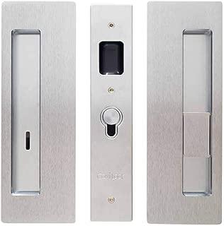 Cavilock CL400B-PR-38-RH Magnetic Latching Right Handed Privacy Pocket Door Pull, Satin Chrome