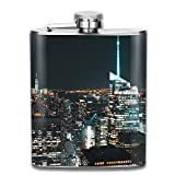 petaca Stainless Steel Hip Flask 7 Oz New York City At Night Full Printed personalised funny bottle