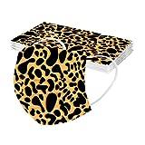 RUITOTP 10/50pc Unisex Erwachsene Leopard Schal Mode Universal 3 Schicht gedruckt niedlich elastische Earloop Schal für Frauen Männer -21124-16