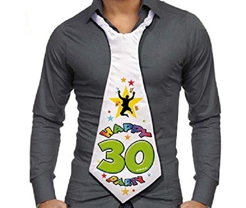 Corbata de 30 años – Regalo para fiesta 30 cumpleaños hombre
