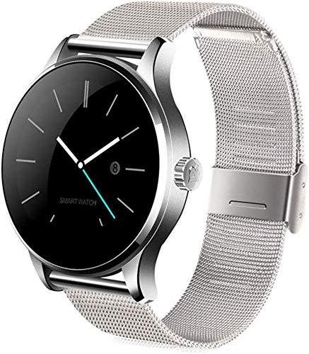 Qin~xiao Bluetooth Smart Uhren Smart-Band Smart Watch Armband, Wasserdicht Fitness Activity Tracker, 24-Stunden HR & BP-Monitor Schlaf-Monitor-Kalorie Burnt Uhr für Männer Frauen Kinder (Color : C)