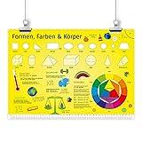 nikima - Kinder Lernposter Formen, Farben & Körper -