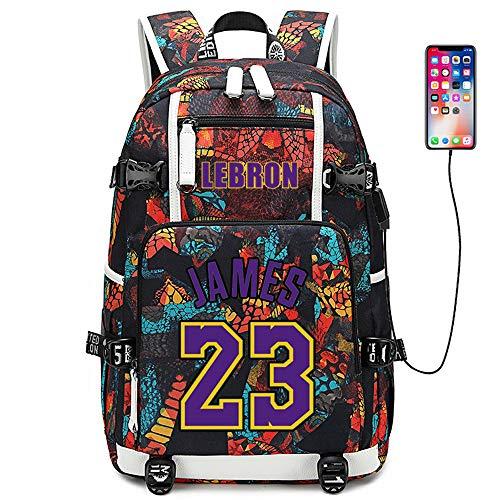 Stella del Giocatore di Basket Lebron James Zaino Multifunzionale Zaino da Viaggio per Studenti Fan Bookbag per Uomo Donna (Stile 2)