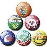 12個のワクチンボタンピン、Scdomワクチン接種または抗体陽性検査COVID 19ワクチン接種のピンバックボタン、奨励された公衆衛生とCovid19ピンバックボタンバッジに対する臨床ワクチン接種