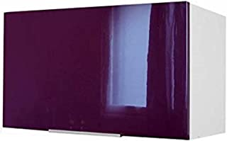 comprar comparacion Berlenus CP8HA - Mueble Alto de Cocina sobre campaña extractora (60 cm), Color Berenjena Brillante