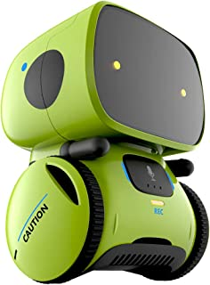 YINGTESI STEM Smart Robot Toys,Education Interactive Toys with Voice Command,Touch Control,Music and Sound Robotics,Voice Record and Repeat,Gifts for Boys and Girls Age 3 4 5 6