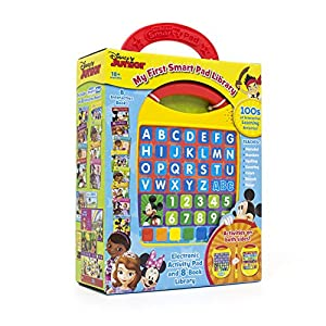 Disney Junior – My First Smart Pad Electronic Activity Pad and 8-Book Library – PI Kids