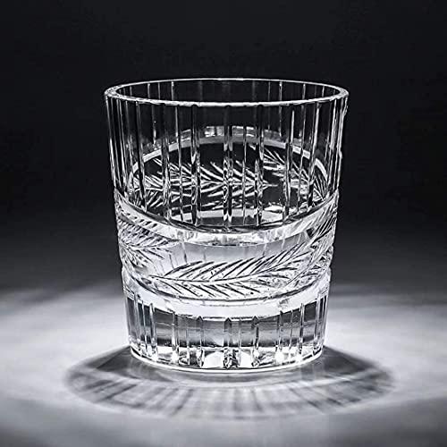 BELLE FILLE Bicchiere da Whisky in Cristallo, Bicchiere da Whisky Scozzese Premium, Bicchiere da Cocktail Bourbon, Nuovo Bicchiere da Whisky, Set da 2 Pezzi 300ML (A)