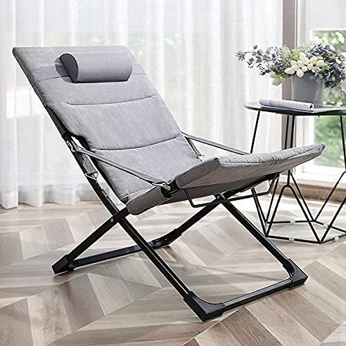 Accesorios para sala de estar Silla reclinable Silla de salón plegable Zero Gravity Sillas de cubierta Cojín de algodón para jardín Patio al aire libre Tumbonas Cama reclinable con capacidad para 200