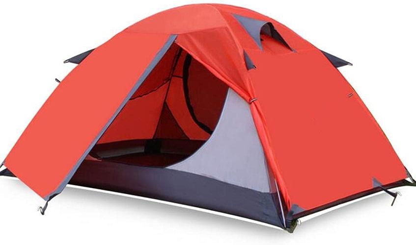 Qnlly Tente de Camping en Plein air 2 Tentes de Tourisme Perso Beach Tente de randonnée imperméable Double Couche 3 Saisons