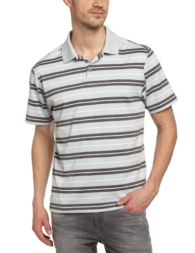 Columbia Big Smoke Stri Polo homme Cool Grey FR : L (Taille Fabricant : L)