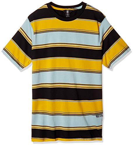 Volcom Herren Chromatic Crew S/S T-Shirt, cool Blue, Klein