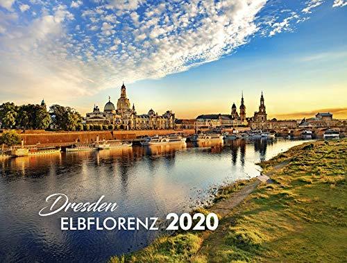 Dresden Elbflorenz 2020: 40x30cm - schwarzes Kalendarium
