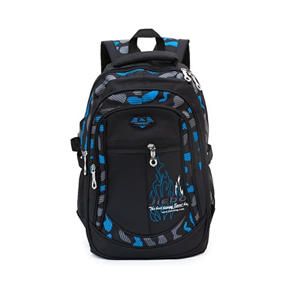 Mochila Niños Mochilas Escolares Grandes Mochilas Duraderas Heavy Duty Student Kids Travel Waterproof (Azul)
