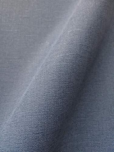 NEWROOM Tapete Blau Vliestapete Unifarbe - Einfarbig Modern Leinen Struktur Leinenoptik Uni inkl. Tapezier-Ratgeber