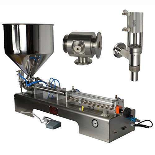 Review Of 50-500ml Pneumatic Paste Filling Machine 1.7-17oz Cylinder Piston Filler CE