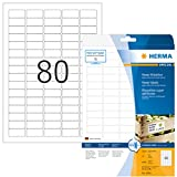 Herma 10901 - Pack de 2000 etiquetas, 35.6 x 16.9 mm, color blanco