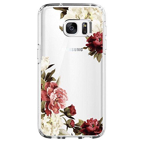 Neivi Kompatibel mit Samsung Galaxy S6 Hülle,Galaxy S6 Edge Schutzhülle Silikon Silikonhülle Transparent TPU Bumper Schutz Handytasche Handyhülle Schale Case Cover für S6 Edge (Blume5, Galaxy S6)