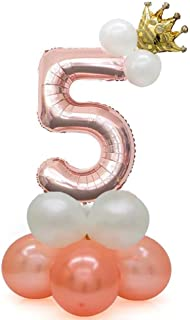 Leoneva 1Pc Upright Number Shape Balloon Children Birthday Party Decoration Shoulder Bags