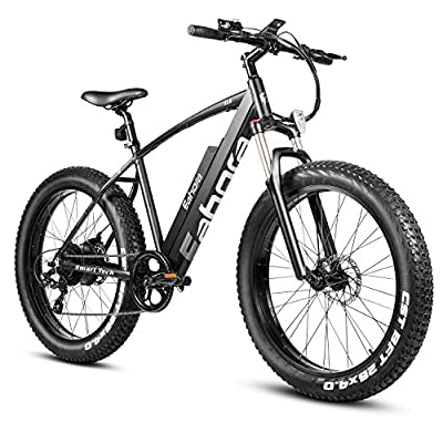 Eahora 500W 4.0 Fat Tire Electric Bicycle 26inch 48V Mountain Snow Electric Bikes for Adults Suspension Shock Absorber Fork Rebound/Lock Out Shimano 7-Speed Gear Shifts, E-PAS Recharge System XC200