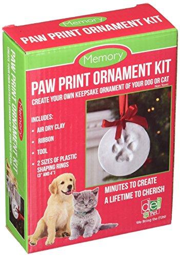 Dennis East International 45765 Clay Paw Print Keepsake Ornament Kit