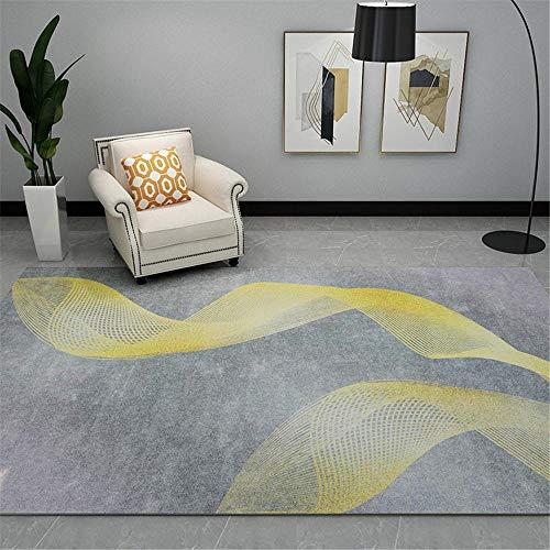 antiscivolo per tappeti tappeti casa Tappeto soggiorno camera da letto grigio giallo rettangolo moderno resistente all'umidità e alle macchie decorazioni camera da letto ragazza 180X280CM 5ft 10.9'X9f
