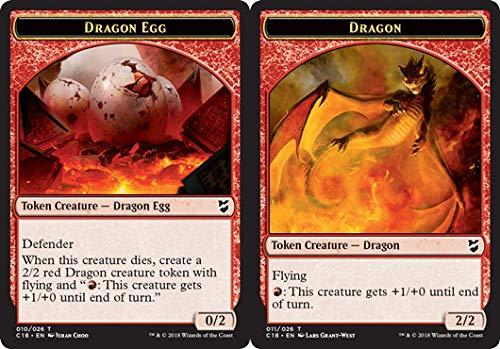 Magic: The Gathering - Dragon Egg Token // Dragon Token - Commander 2018