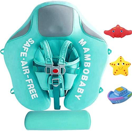 2020最新サイズの改善を追加テールスイムトレーナー幼児ソリッドスイミングリング子供ウエストフロートリングプールフロートスイムリングをリラックス決してフリップオーバーMambobabyノンインフレータブルフロート (Color : Green)