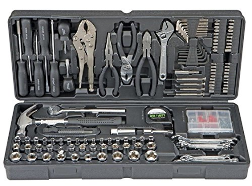 130 Pc Tool Set & Case DIY Auto Home Repair Kit SAE Metric Texas Tool Store