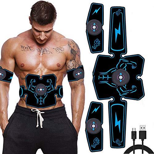 SZYM Electroestimulador Muscular USB Recarga Gimnasio Estimulador Muscular Abdominal EMS Estimulador Muscular Casa Fitness MáQuina para Adelgazar Estimulador Abdominal