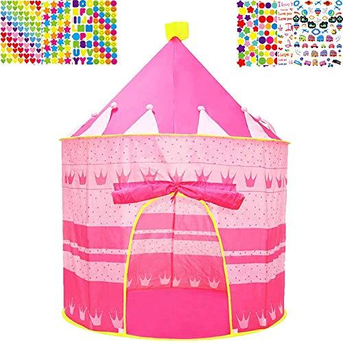 Mgee Tenda da Letto per Bambini, Tende da Sogno, Tenda Pop-Up, Casa Fantasia Bambini Portatile con Borsa da Trasportoo, Regalo di Natale di Compleanno (C-Castello)
