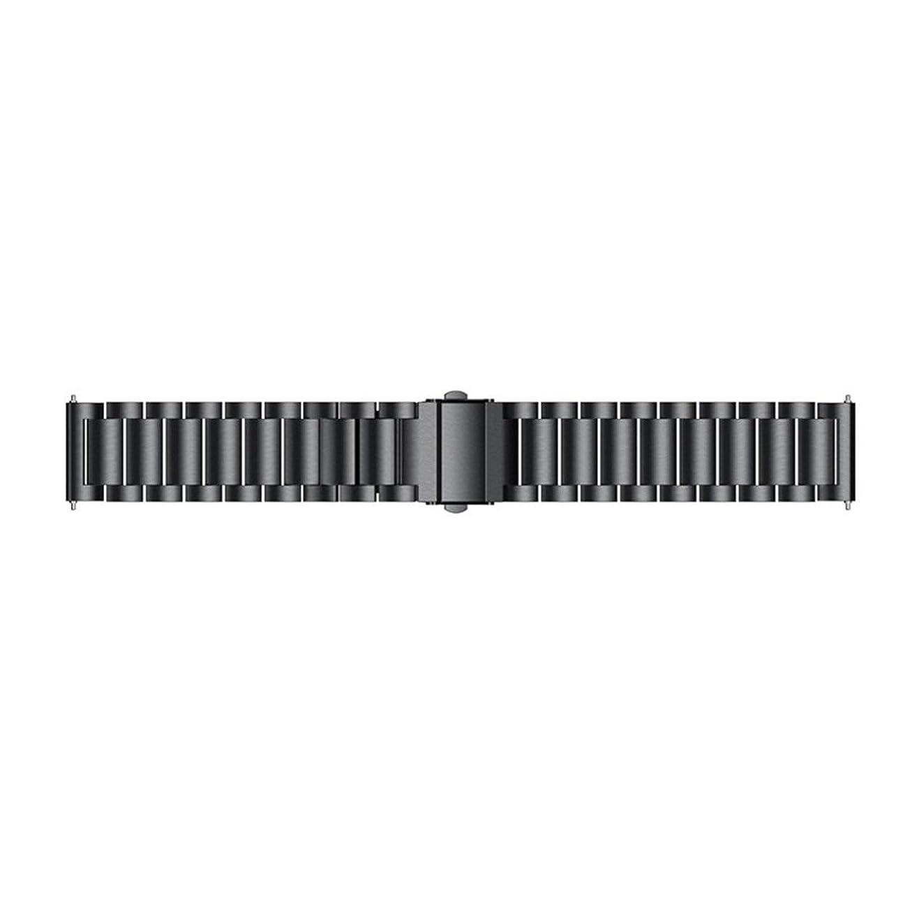 レンディション項目呼吸Huami 2 / 2Sストラトスウォッチクイックリリースのための22ミリメートルステンレススチール時計バンド