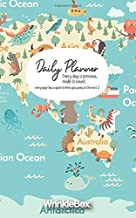 World Map - 12 Week Planner - Cartoon Style Design Cover - Motivational Quotes Every Page (WrinkleBox Planner)