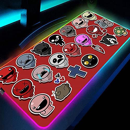 Alfombrilla de ratón para videojuegos Anime Hollow Knight RGB, alfombrilla de ratón grande extendida para computadora portátil de oficina con borde cosido duradero, 500 x 1200 mm
