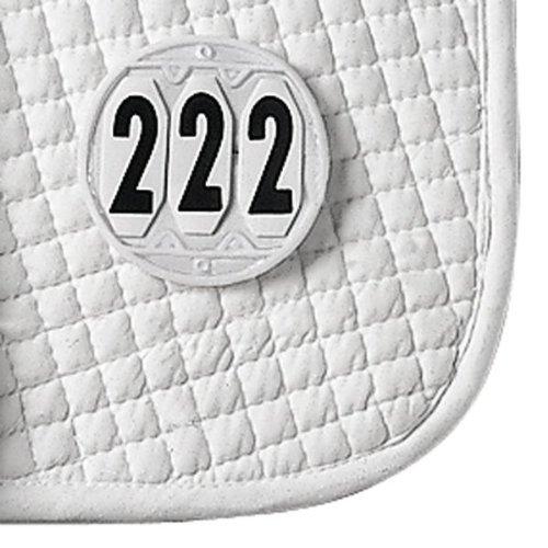 WALDHAUSEN Startnummern für die Schabracke, rund, weiß