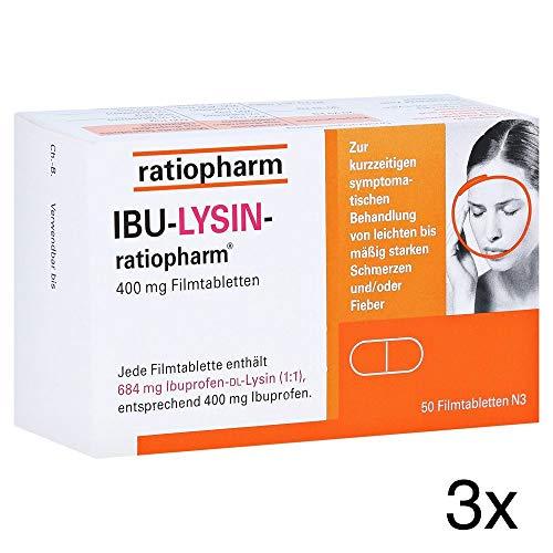 IBU-LYSIN-ratiopharm 400 mg, Spar-Set 3x50 Filmtabletten inklusive einer Handcreme von vitenda.de