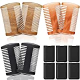 Best Beard Combs - 6 Pieces Beard Comb Natural Sandalwood Wooden Moustaches Review