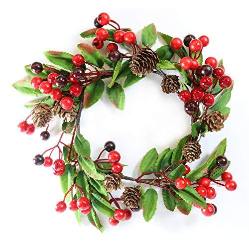 Natale / Inverno Deluxe Ghirlanda - 25cm Festive Bacche & Pigne