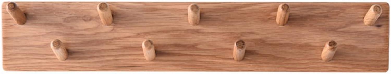 CB Solid Wood Coat Rack, Solid Wood Wall-Mounted Living Room Bedroom Restaurant Clothes Hat Umbrella Pendant Simple Design Hat Shelves (Size   5510CM)