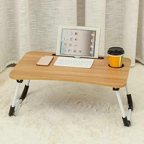 60 x40 x28cm cama pequeña tabla del ordenador Tabla ordenador dormitorio con escritorio plegable del estudiante universitario Célula compartida Cama Bandeja de escritorio, Negro ( Color : Wood Color )